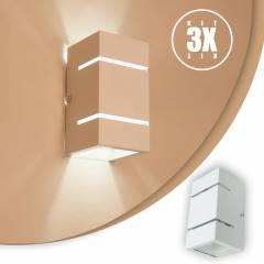 Arandela 2 Fachos e Frisos Externa E Interna Branca Kit 03 unidades