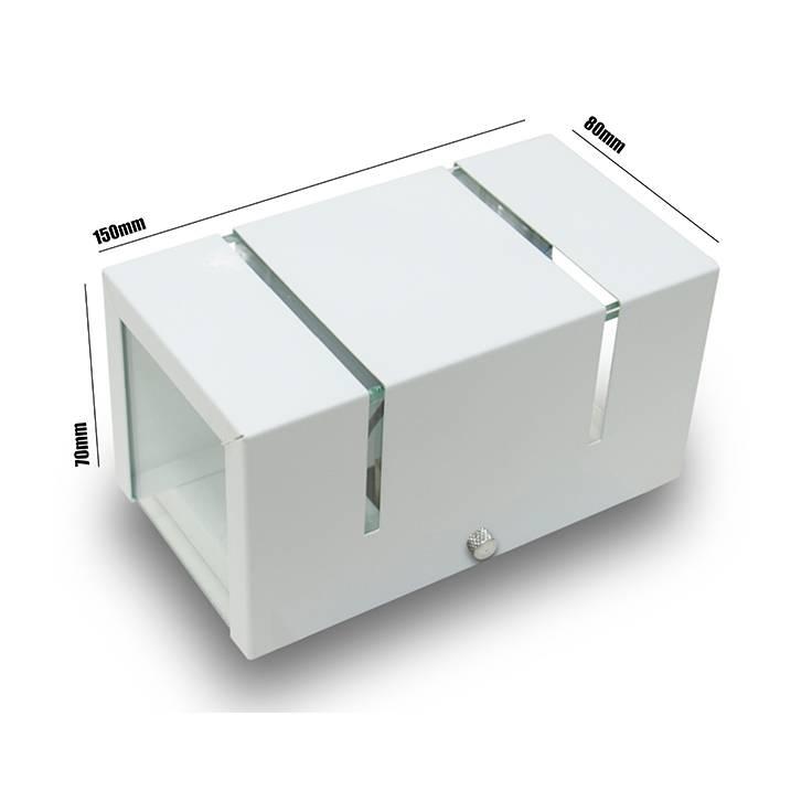 Arandela 2 Fachos e Frisos Branca + Led G9 5w 3000k Externa  - LCGELETRO