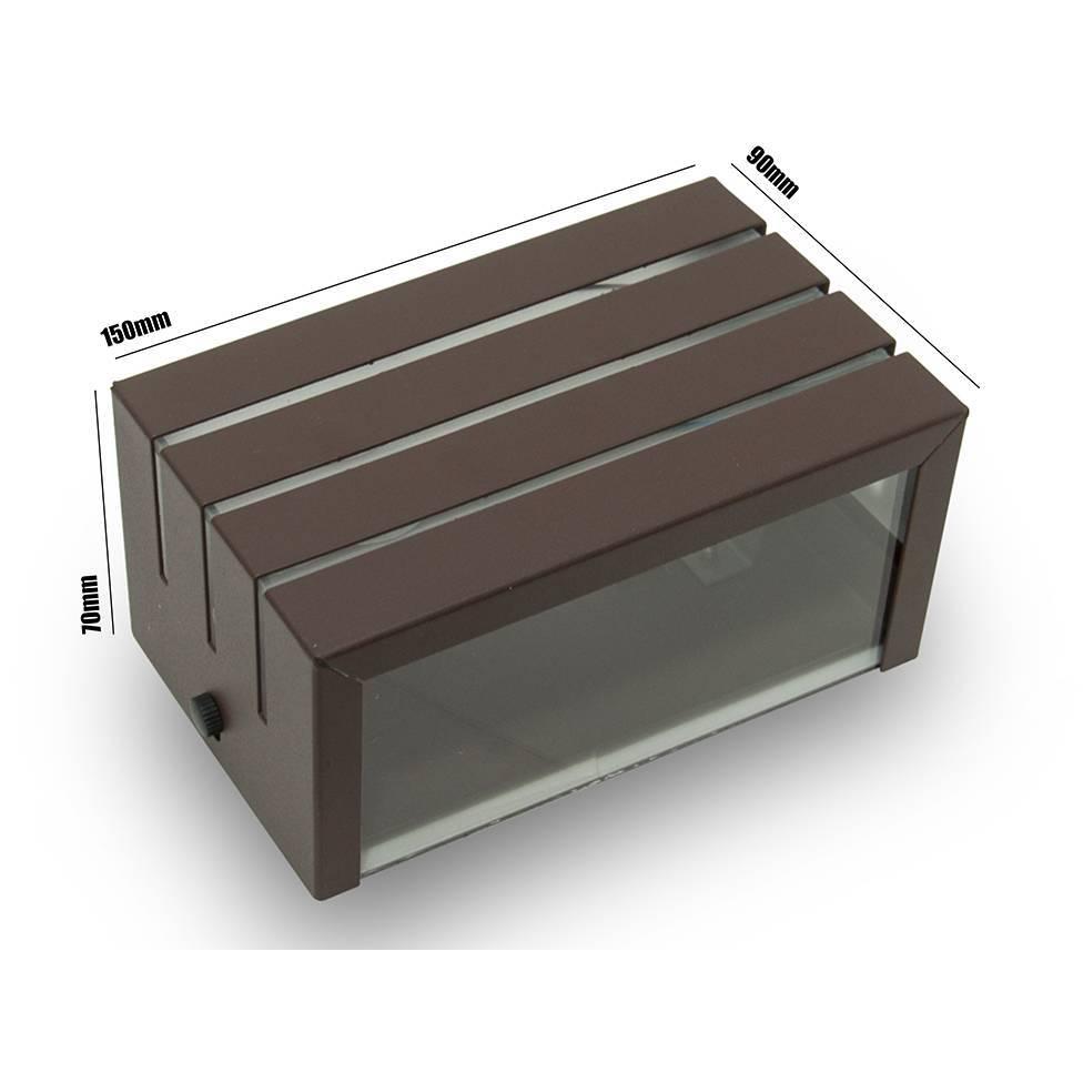 Arandela Frisada Marrom Parede Externa Kit 06 unidades - LCGELETRO