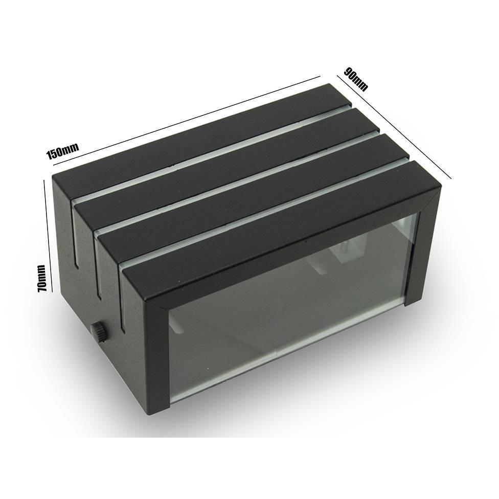 Arandela Frisada Preta Parede Externa Kit 03 unidades - LCGELETRO