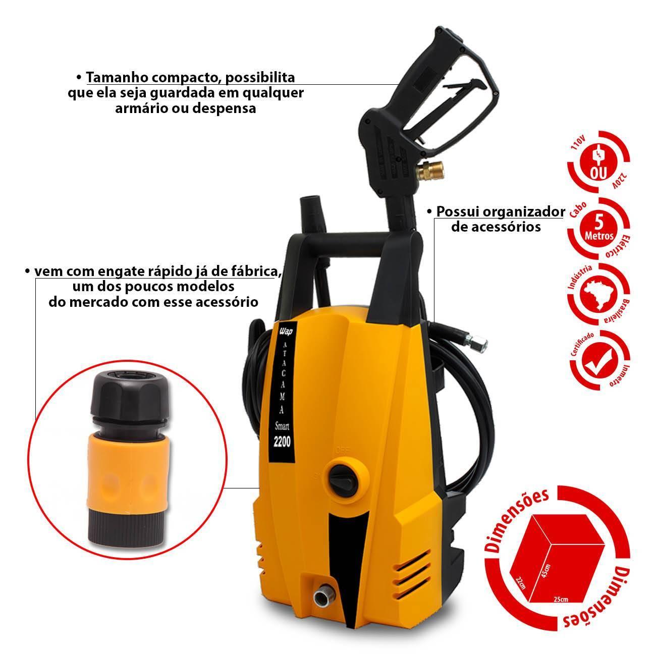Lavadora de Alta Pressão Wap Atacama Smart 2200Lbs 1400w - LCGELETRO