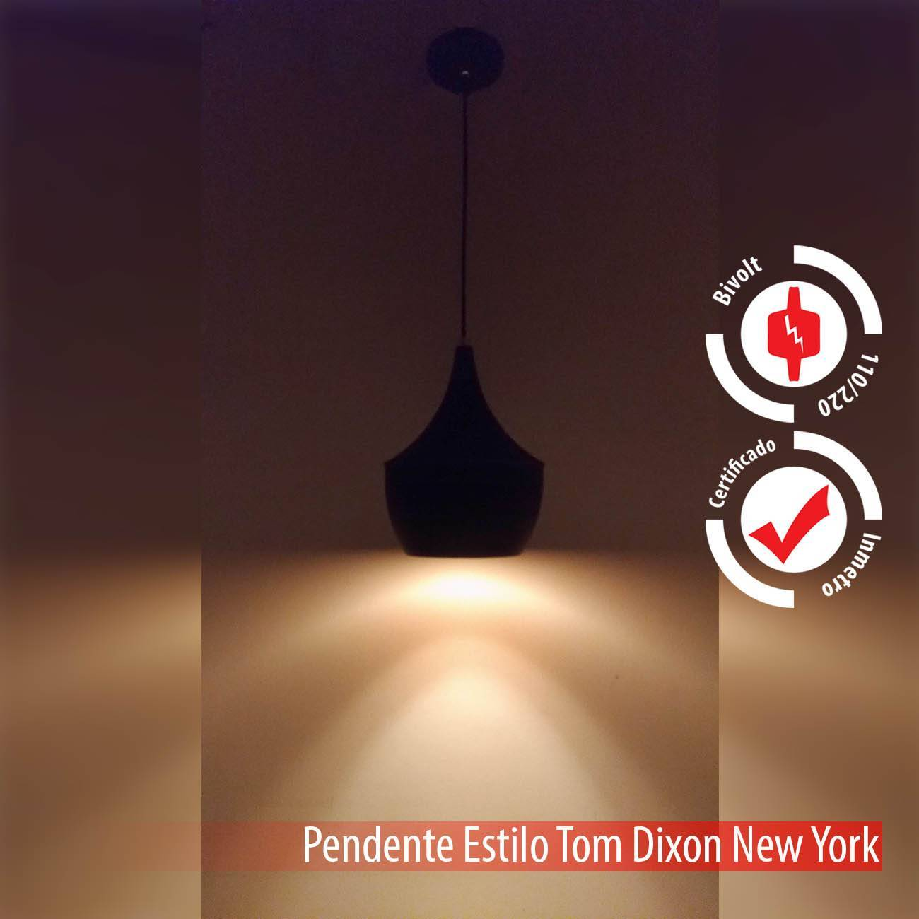Pendente Tom Dixon Preto E Cobre New York Alumínio E27 - LCGELETRO
