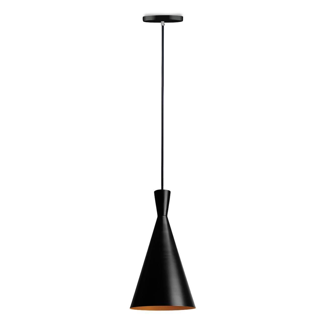 Kit 3 Pendentes Luminária Tom Dixon Preto E Cobre Alumínio - LCGELETRO
