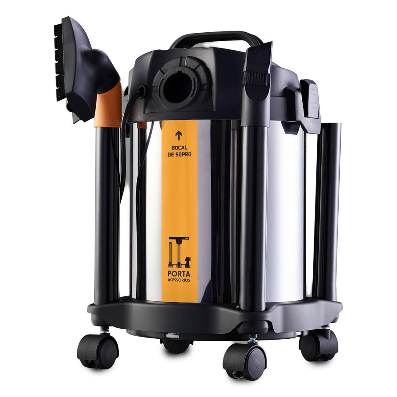 Aspirador De Pó E Água Inox 1600w Gtw 20 litros Wap - LCGELETRO