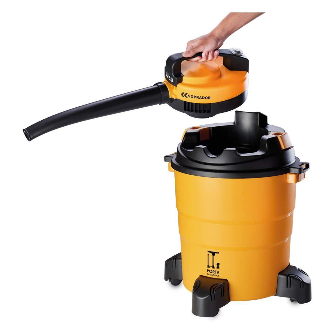 Aspirador De Água/Pó e Soprador Inox 1600w Gtw 55 litros Wap - LCGELETRO