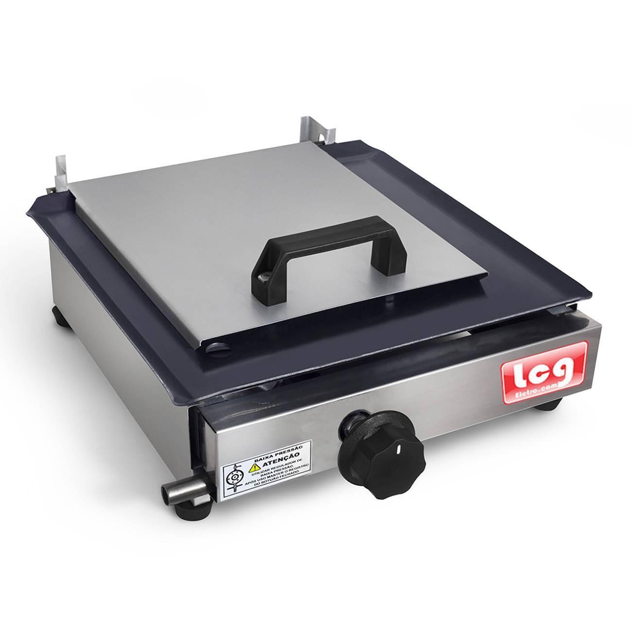 Chapa De Lanche A Gás Sanduicheira 30x30cm Lcg + Kit Gás - LCGELETRO