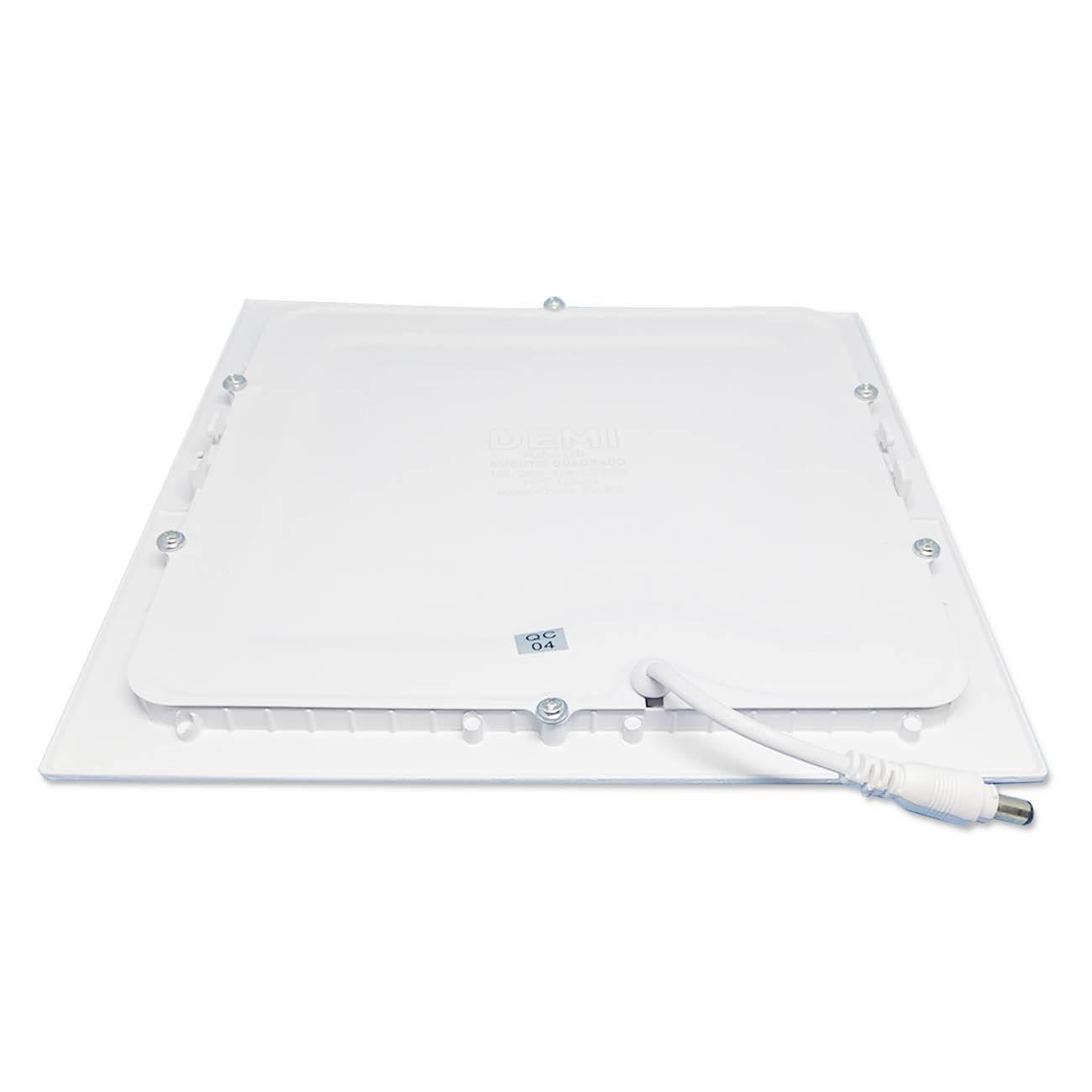 Luminária Plafon Led Embutir Slim Quadrado 18w Branco Frio - LCGELETRO