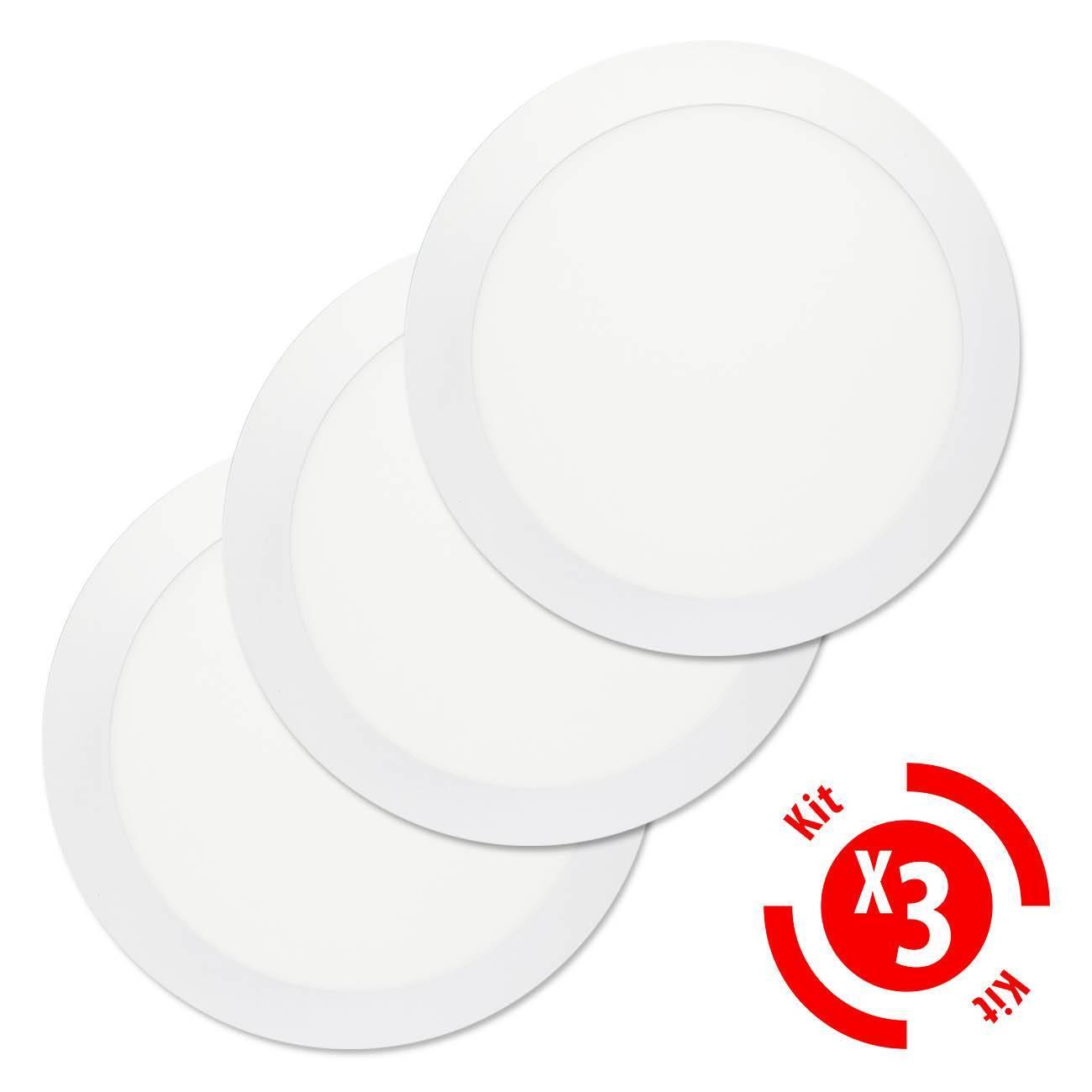Luminária Plafon Led Embutir Slim Redondo 18w Branco Frio Ki - LCGELETRO