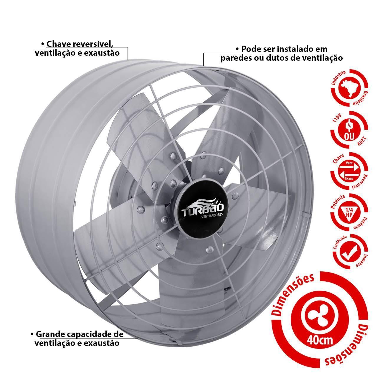 Exaustor Industrial/Comercial 40cm Turbão - LCGELETRO