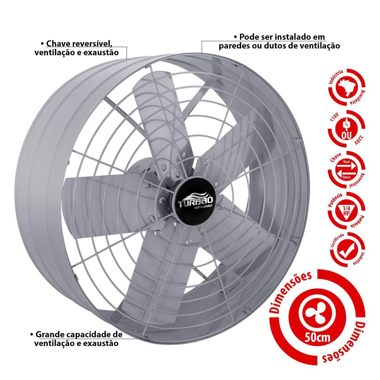 Exaustor Industrial/Comercial 50cm Turbão - LCGELETRO