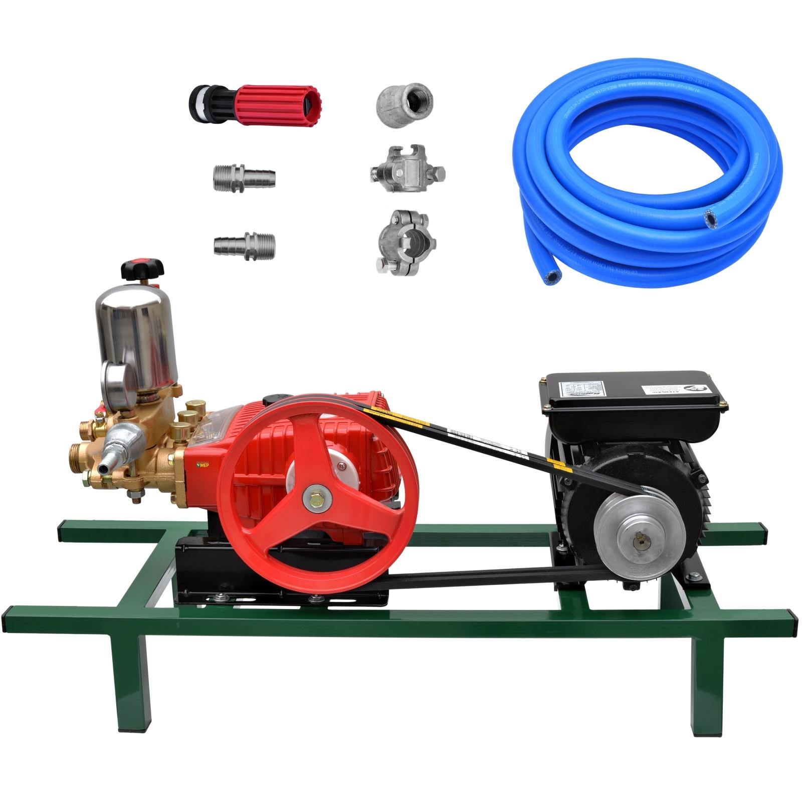 Bomba De Alta Pressão E Pulverização Tekna BPF22 + Motor marca Lynus 2cv 4p Lavacar Completa - Ferramentas MEP