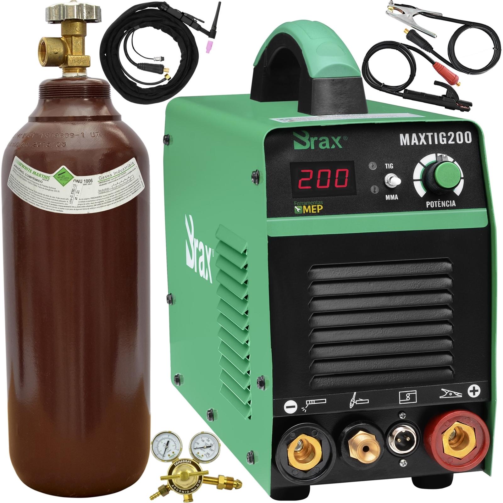 Máquina De Solda Tig Eletrodo 200a Brax Soldas MaxiTig 200 Bivolt Completa - Ferramentas MEP