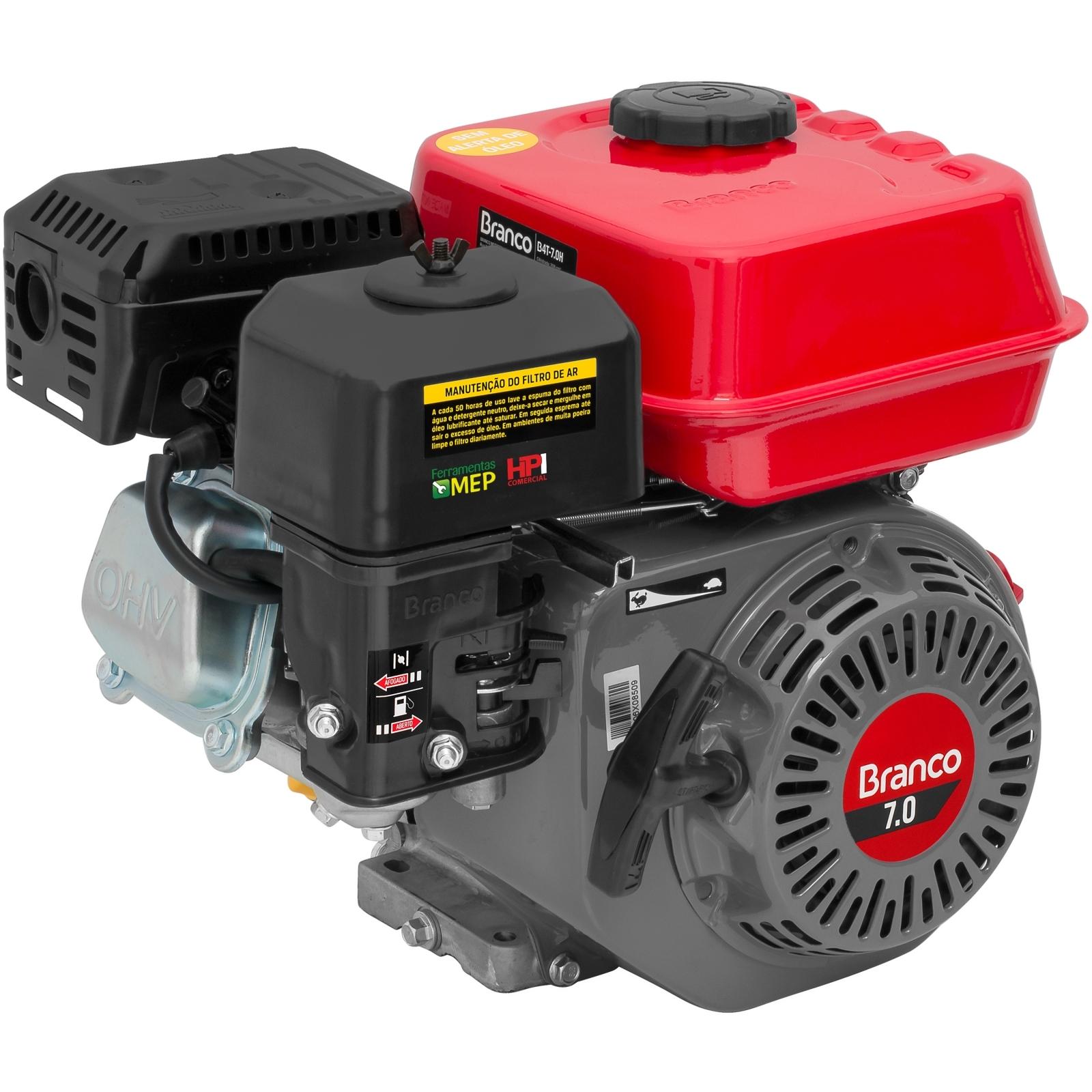 Motor Estacionário Branco 7hp Gasolina Partida Manual B4T-7.0H - Ferramentas MEP