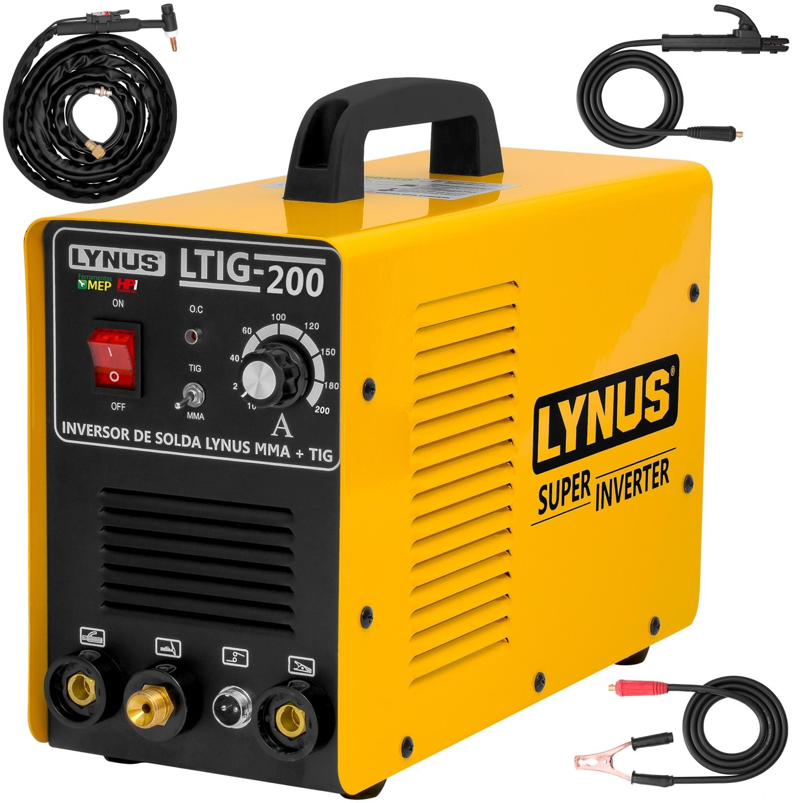 Máquina De Solda 200a Tig Mma  Lynus Ltig-200 220 Volts - Ferramentas MEP