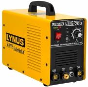 Máquina De Solda Tig Lynus Inversora 200amp Com Tocha Tl4