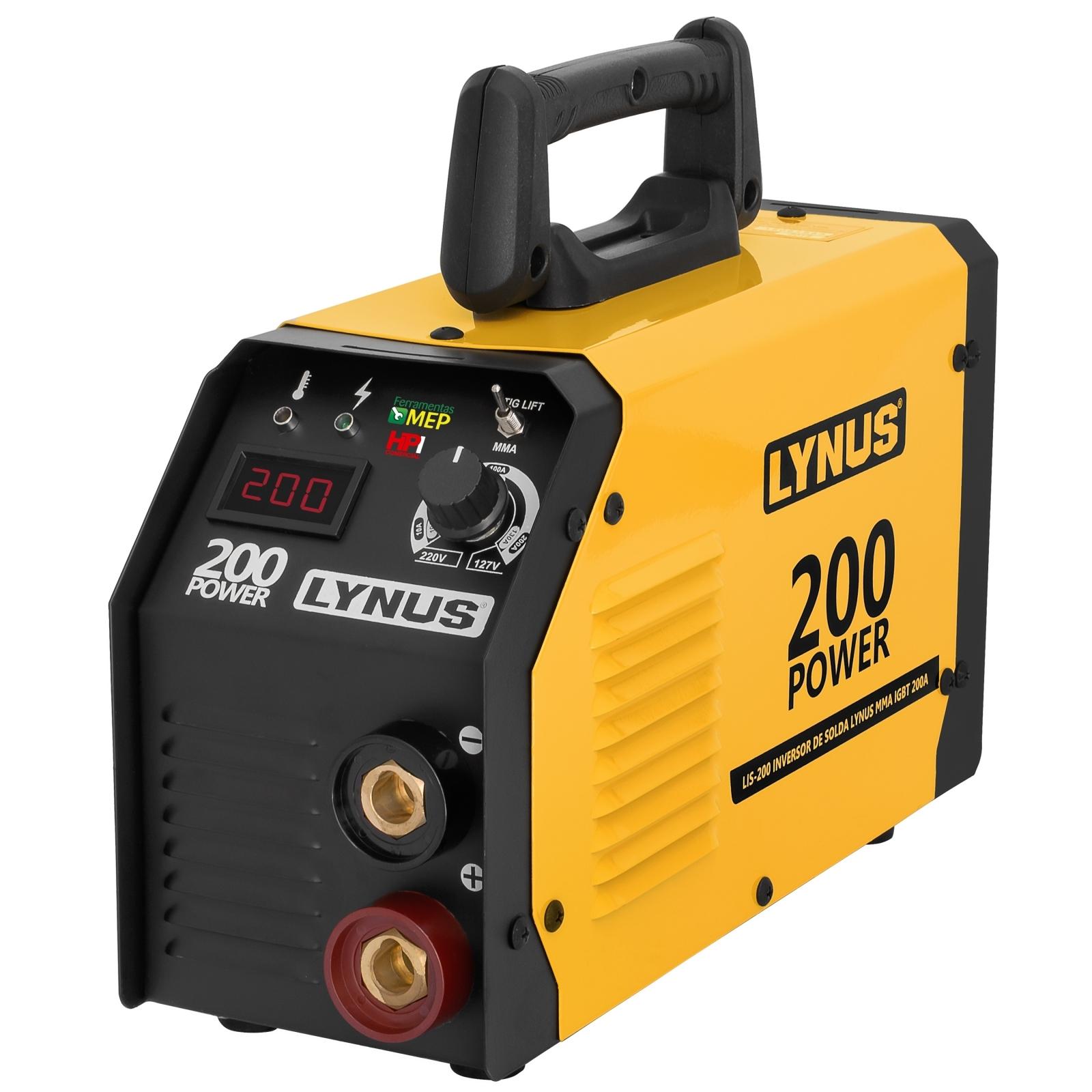 Maquina De Solda Inversora Lynus 200amp Bivolt Lis-200 L20 - Ferramentas MEP