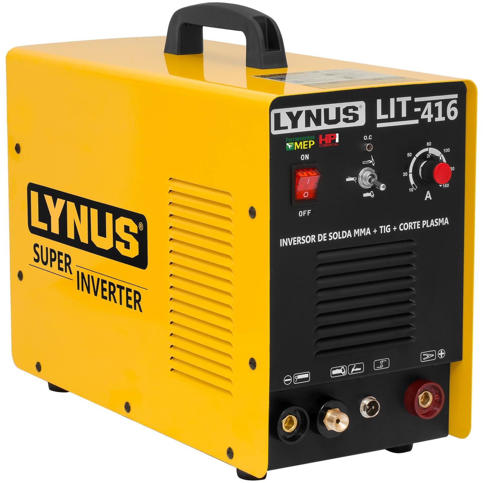Maquina De Solda Multifunção Eletrodo/Tig/Corte Plasma Lynus LIT-416 - Ferramentas MEP