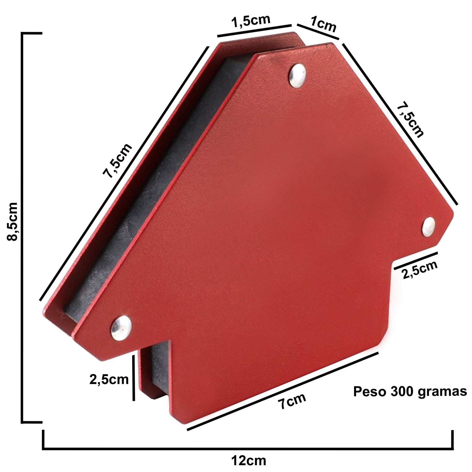 Esquadro Magnético Para Soldador Ferramentas MEP capacidade 12 kilos - Ferramentas MEP