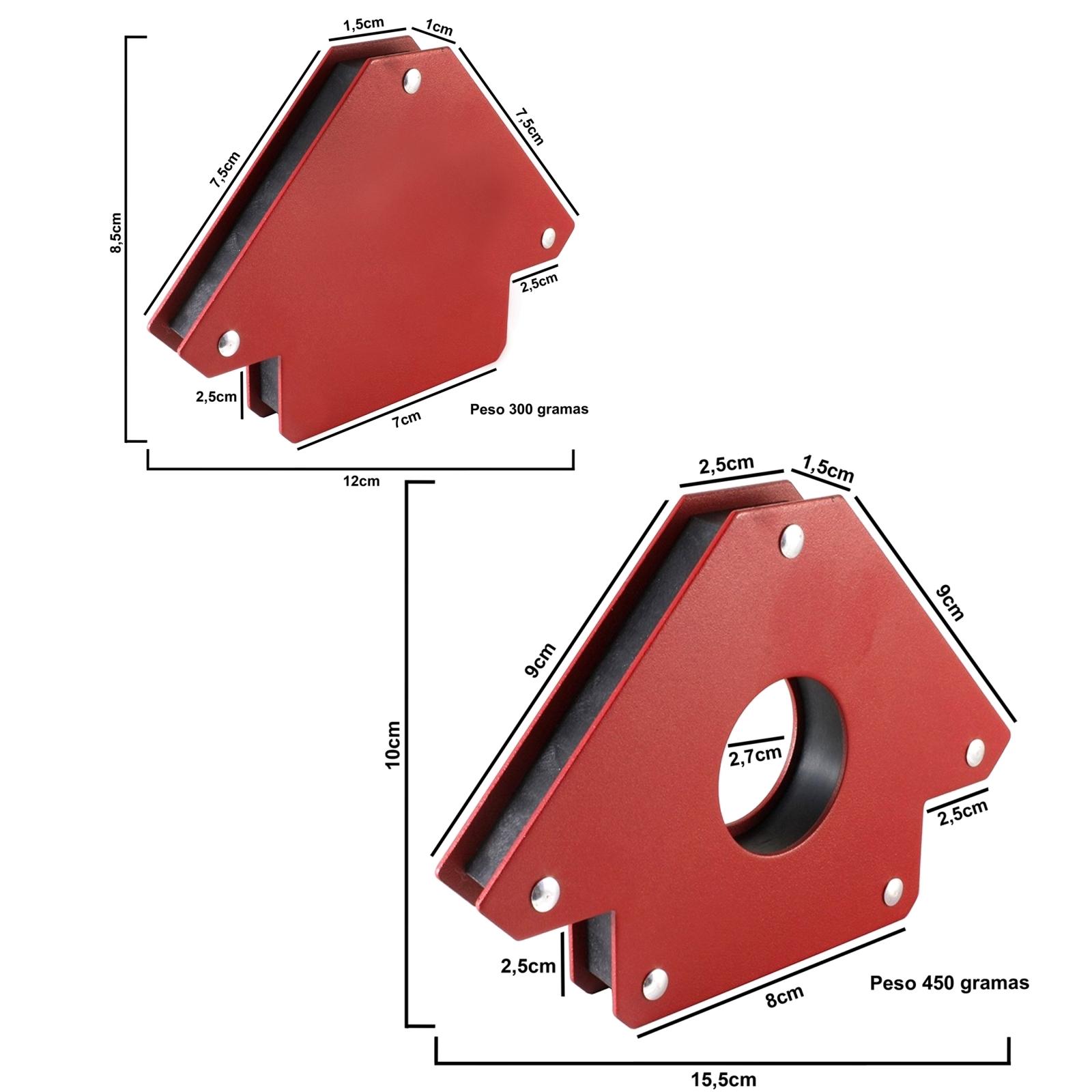 Esquadro Magnético Para Soldador  Brax Soldas Capacidade 12 e 30 kilos - Ferramentas MEP