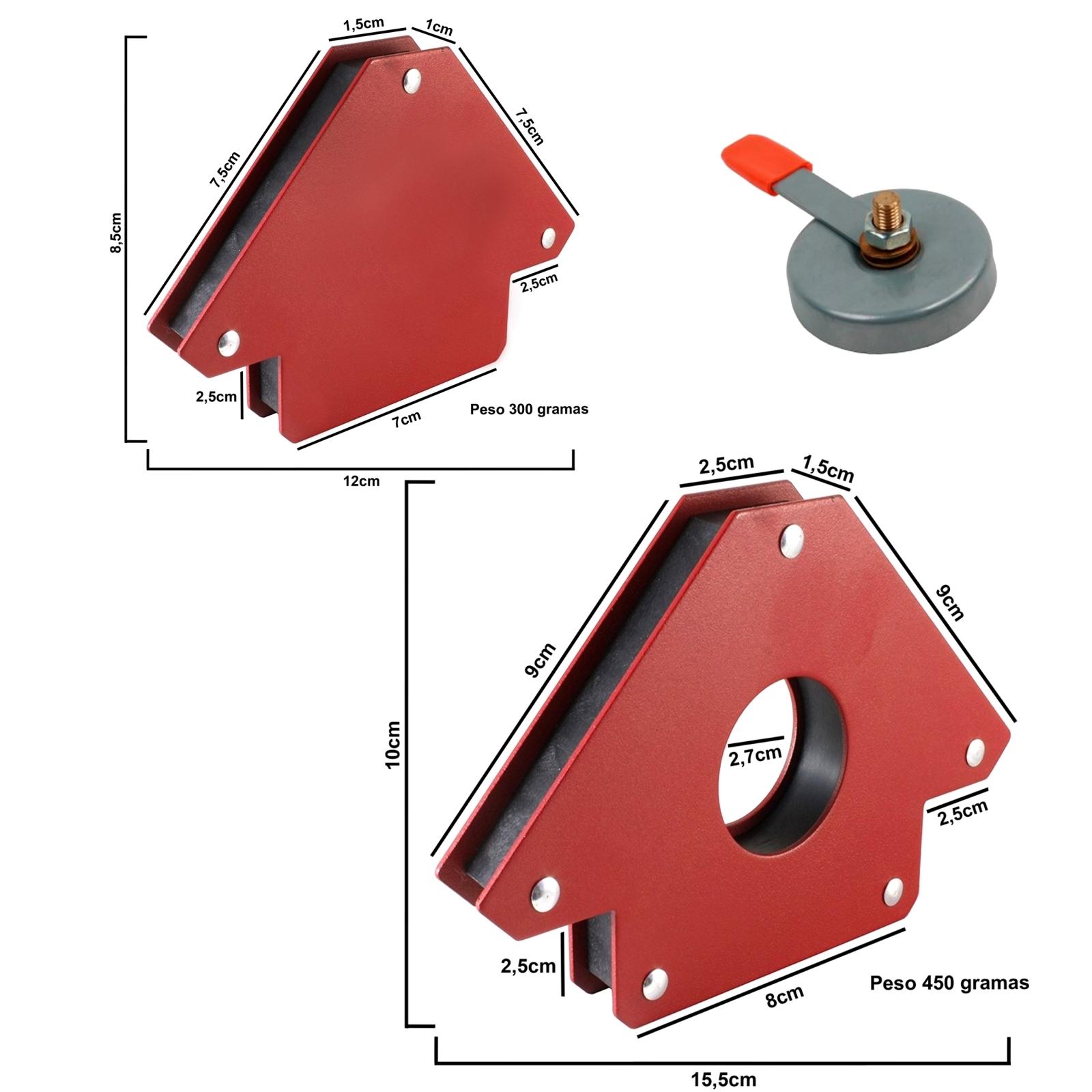 Esquadro Magnético Para Soldador Brax Soldas Capacidade 12 e 30 kilos + Terra - Ferramentas MEP