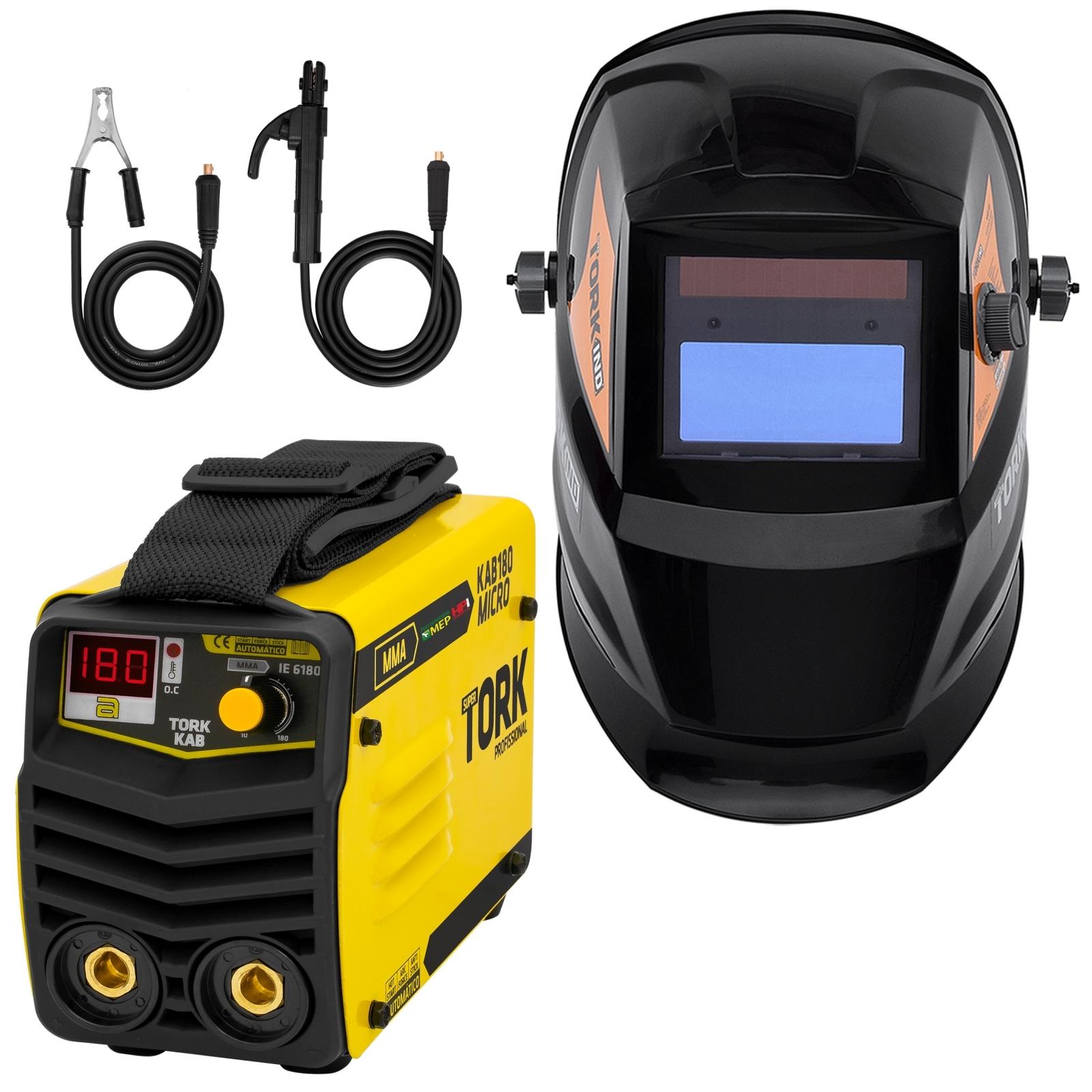 Inversora De Solda Eletrodo Tork 180a Bivolt Combo Com Mascara Ks1 - Ferramentas MEP