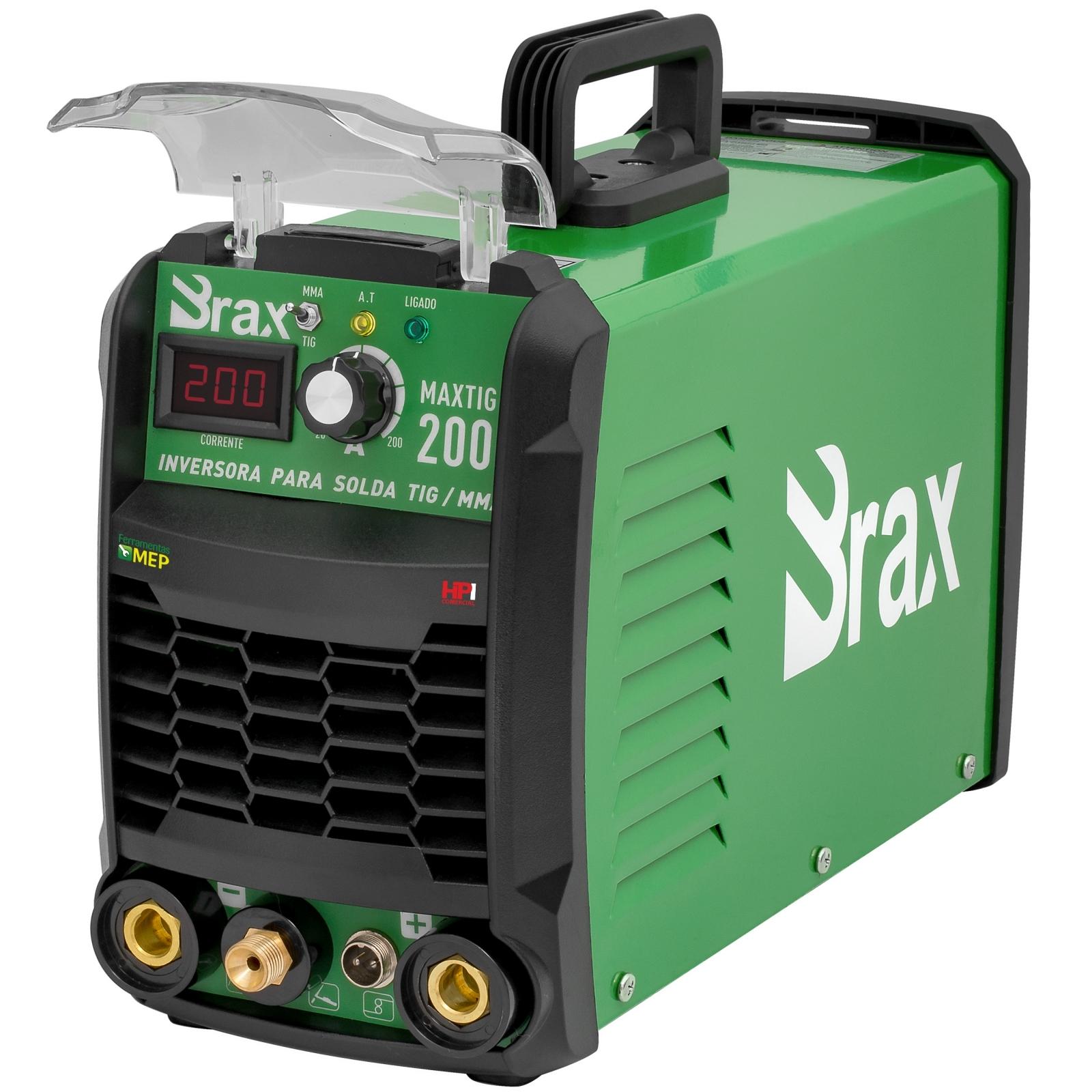 Máquina De Solda Tig Eletrodo 200a Brax Soldas MaxiTig 200 Bivolt Nova Geração - Ferramentas MEP