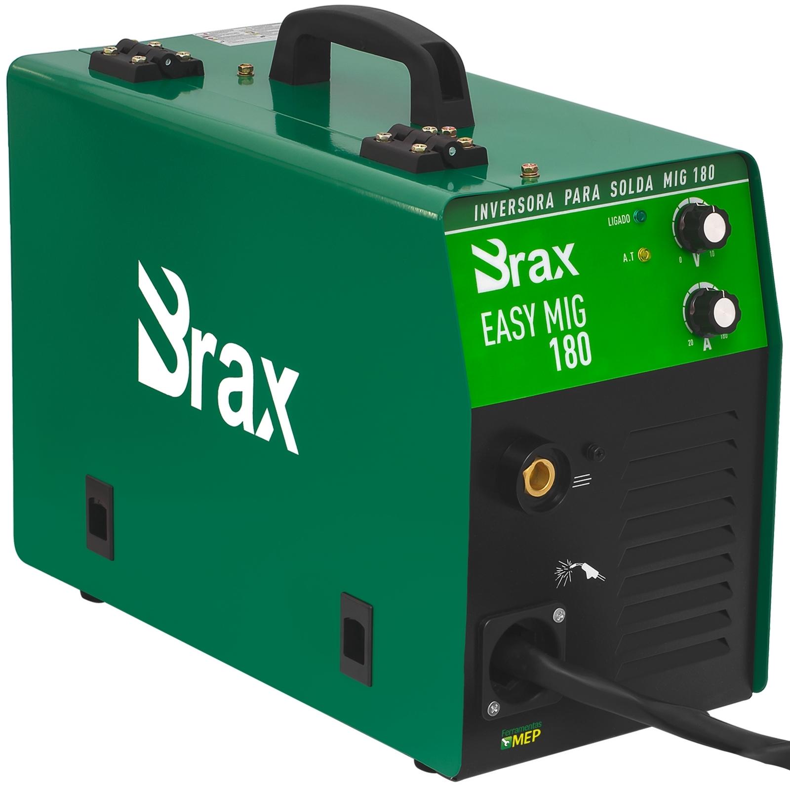 Máquina De Solda Mig Mag  Brax Soldas Easy Mig 180 Completa - Ferramentas MEP