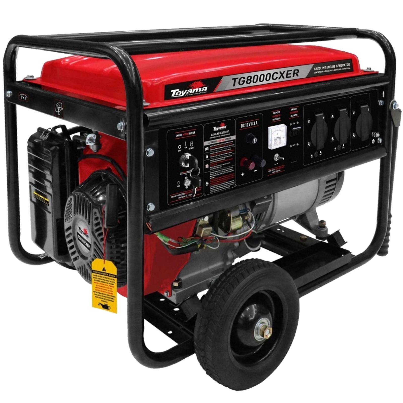 Gerador De Energia À Gasolina 7,2 Kva  Toyama TG8000CXER - Ferramentas MEP