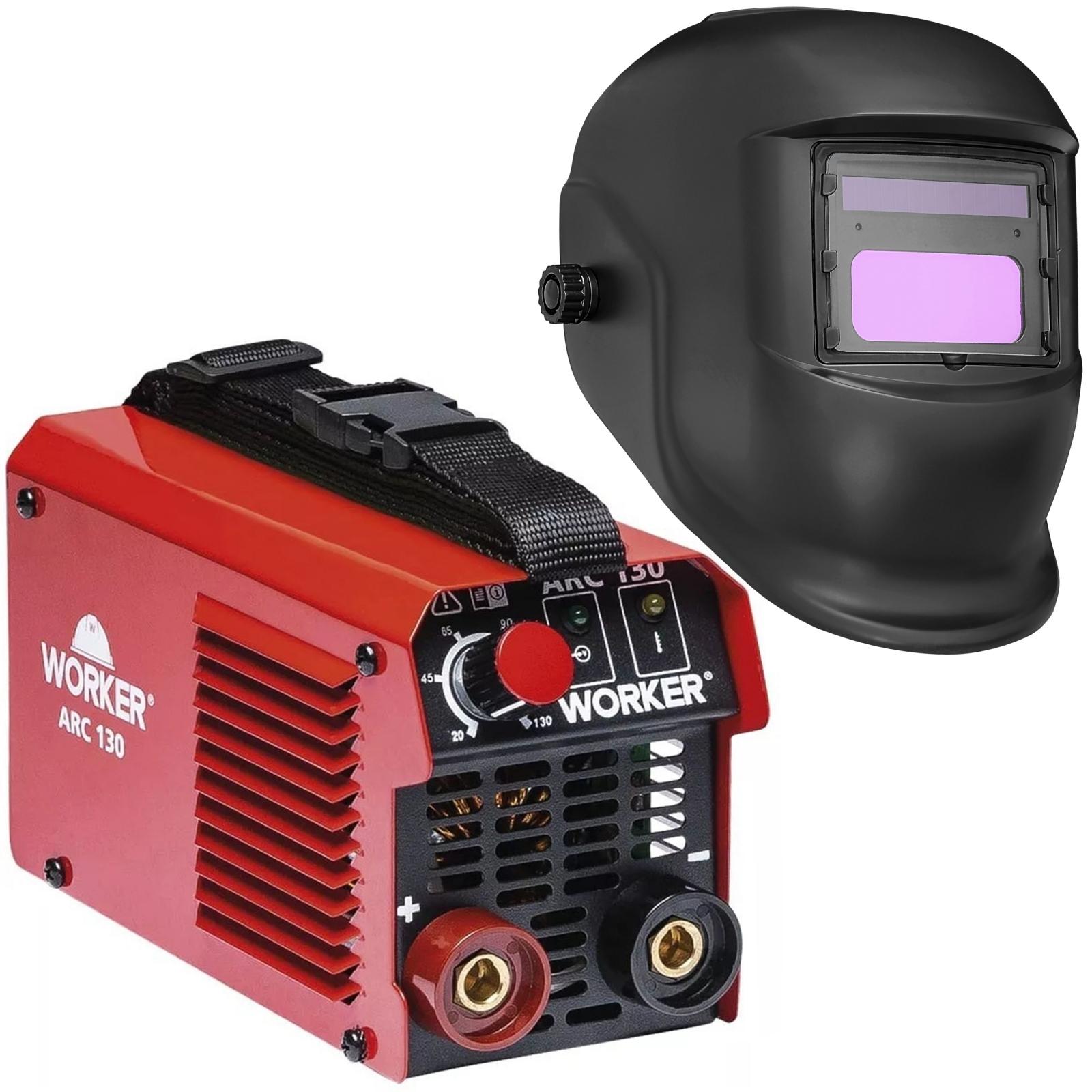 Máquina De Solda Inversora Arc 130 Worker + Mascara De Solda Solar Eletrônica - Ferramentas MEP