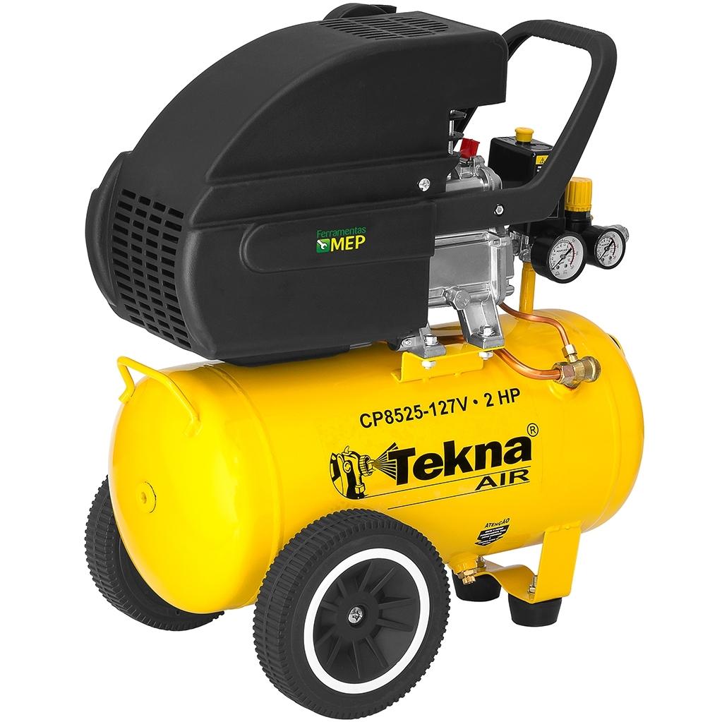 Compressor De Ar 24 Litros 2hp Tekna CP8525 Ct2 - Ferramentas MEP