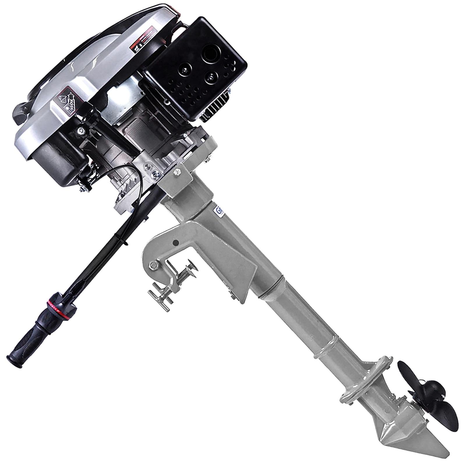 Motor De Popa A Gasolina 6,5HP Toyama – Modelo TE65V1-HF + Rabeta Vertical Girafer - Ferramentas MEP