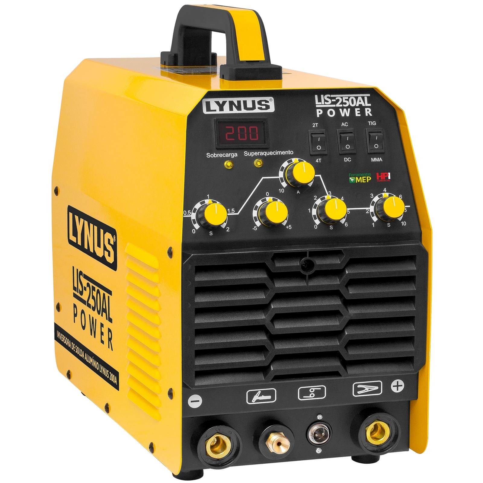 Inversora De Solda Tig Ac/Dc Lynus Lis-250Al 200a 220v Adl - Ferramentas MEP