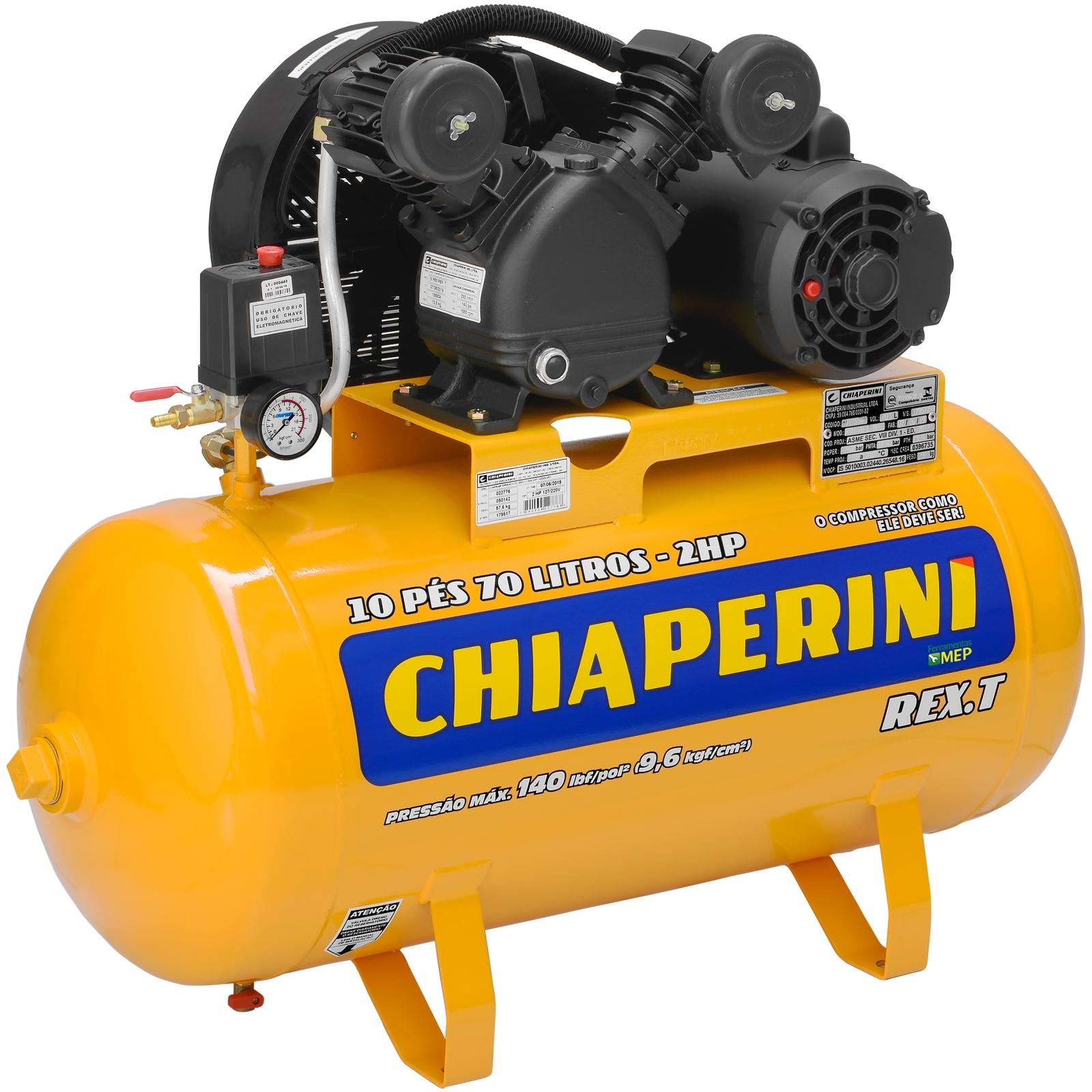 Compressor De Ar Média Pressão Chiaperini RCH 70L MP - Ferramentas MEP