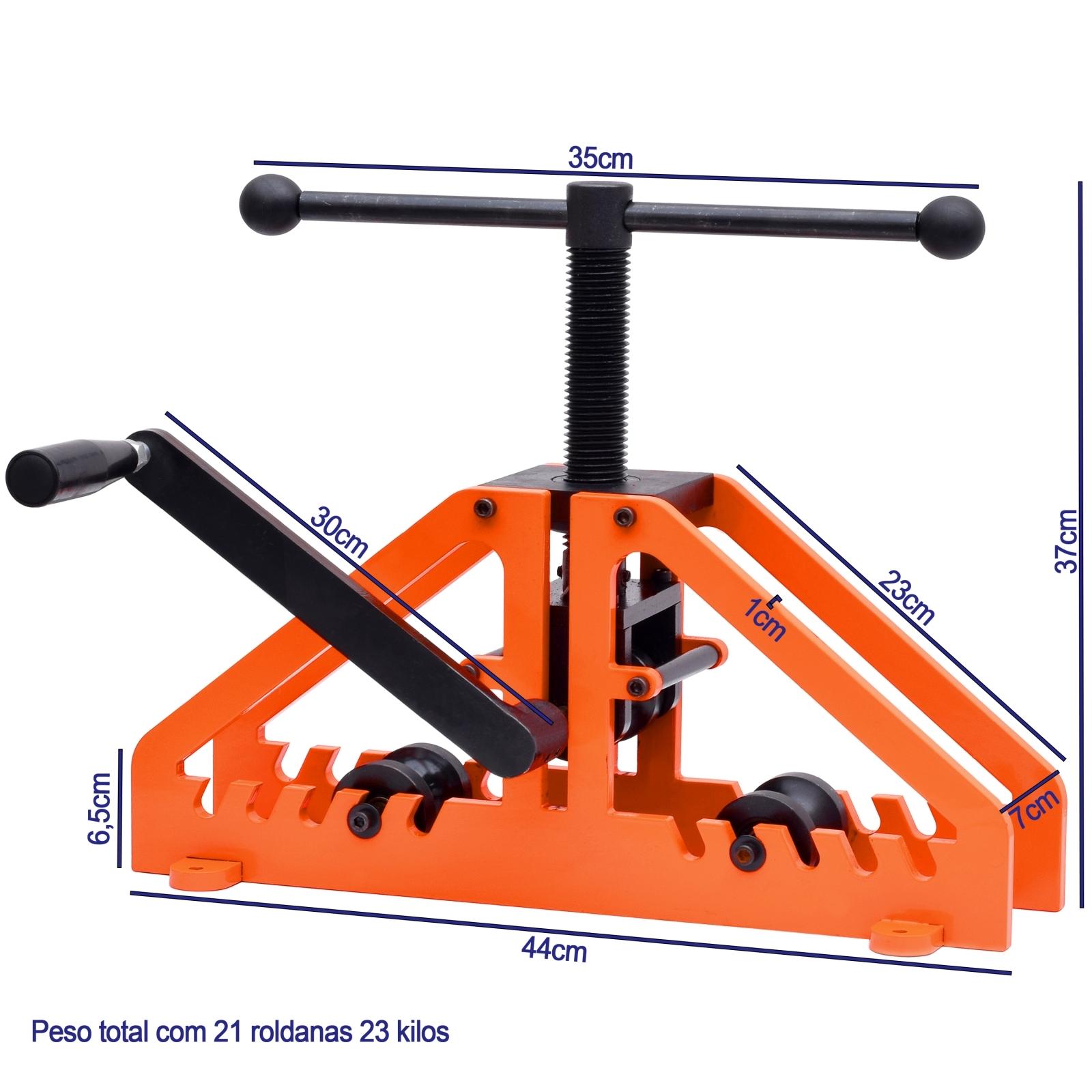 Curvador De Tubos Manual Kit Completo MecTools Dt2 - Ferramentas MEP