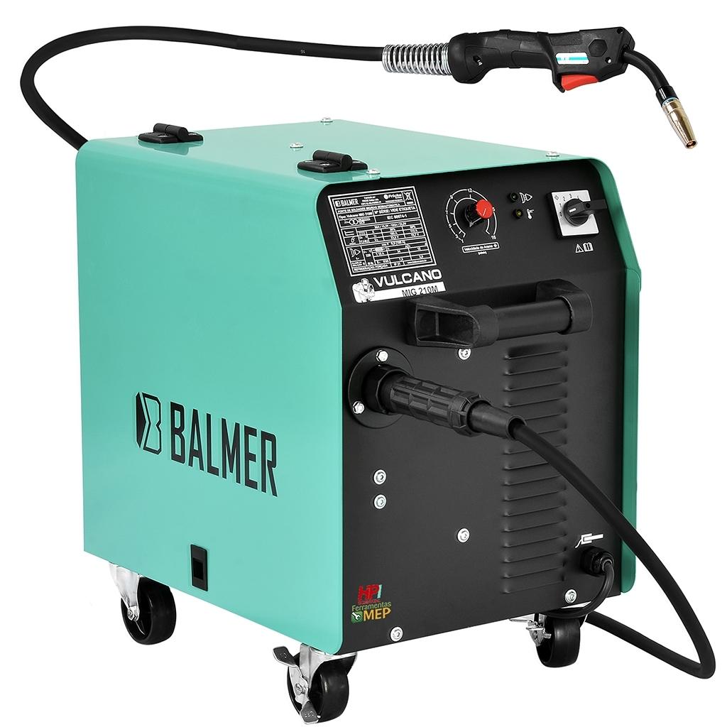 Máquina De Solda Mig  Balmer Vulcano 210 - Ferramentas MEP