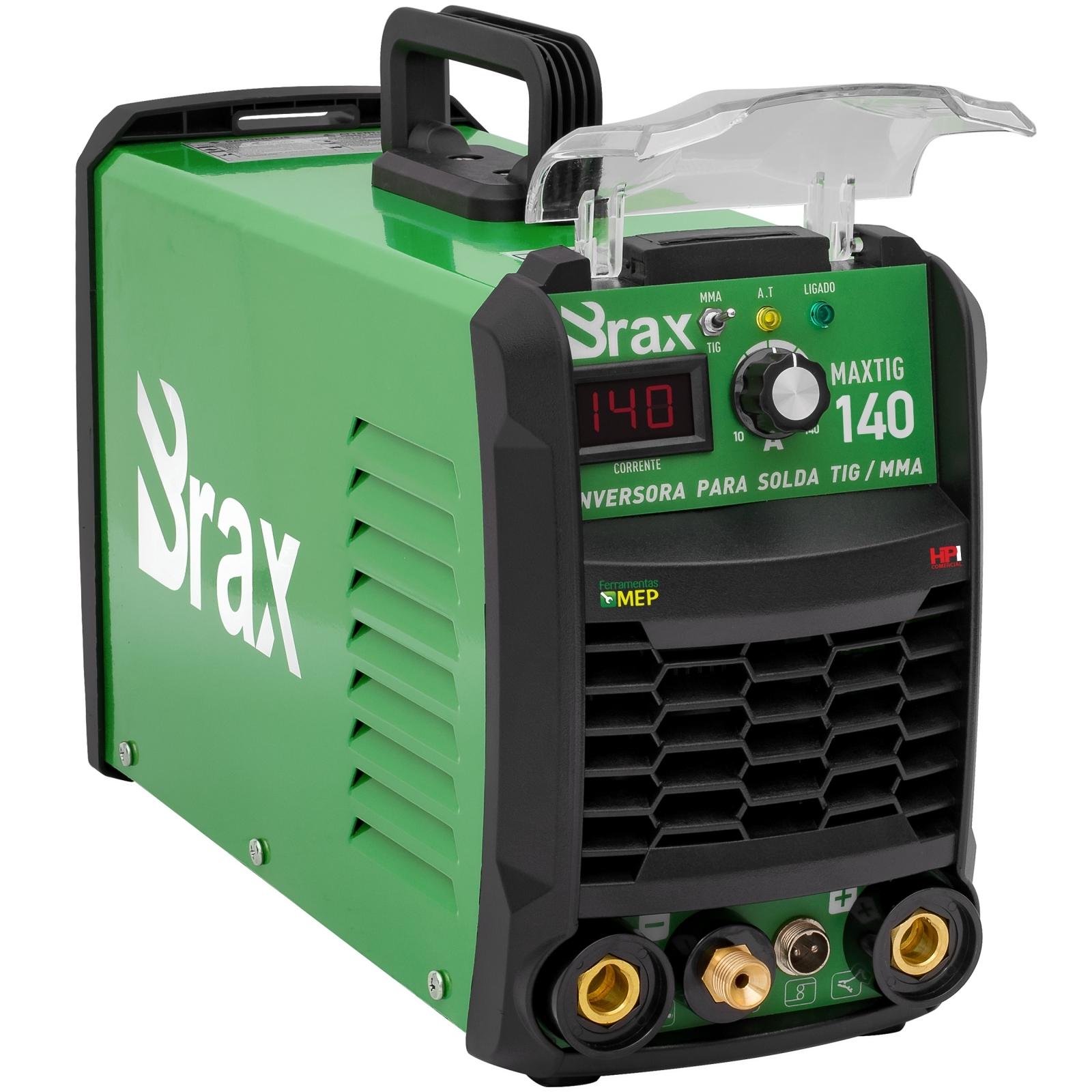 Máquina De Solda 140a TIG/MMA Brax MaxTig 140 Bivolt Alta Frequência - Ferramentas MEP