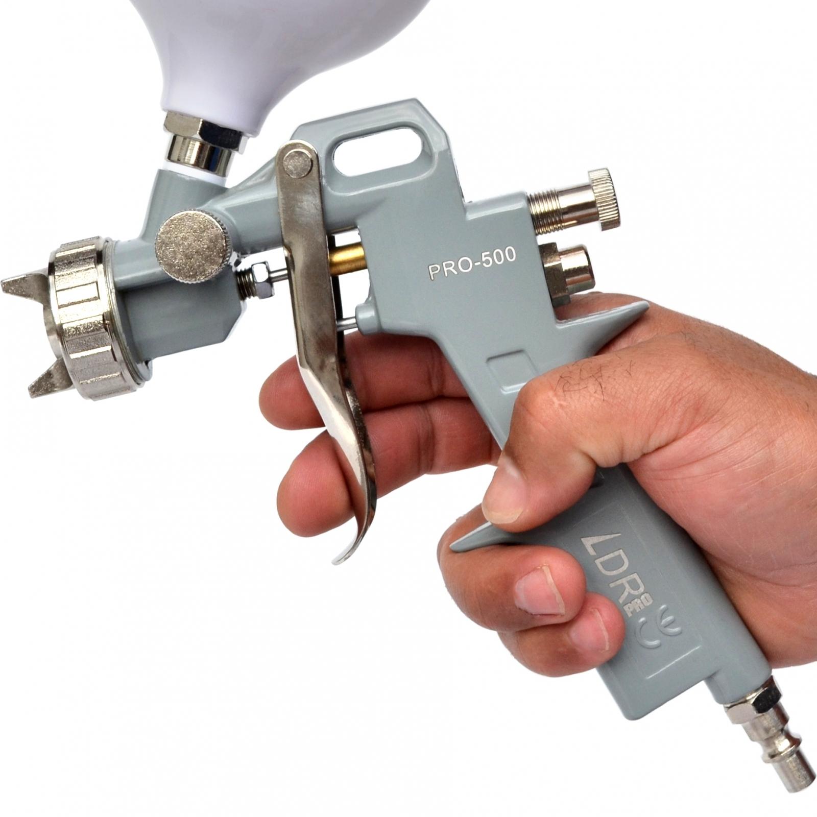 Pistolas De Pintura Pdr - Pro 550 Bico 1,4 Hvlp  + Pro 500 Bico 1,5 Gravidade Kp3 - Ferramentas MEP