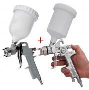 Kit Pistola De Pintura Hvlp 600ml Lx100 Zeffix + Pistola De Fundo 500ml Ldr2 Pro 500 Kp4