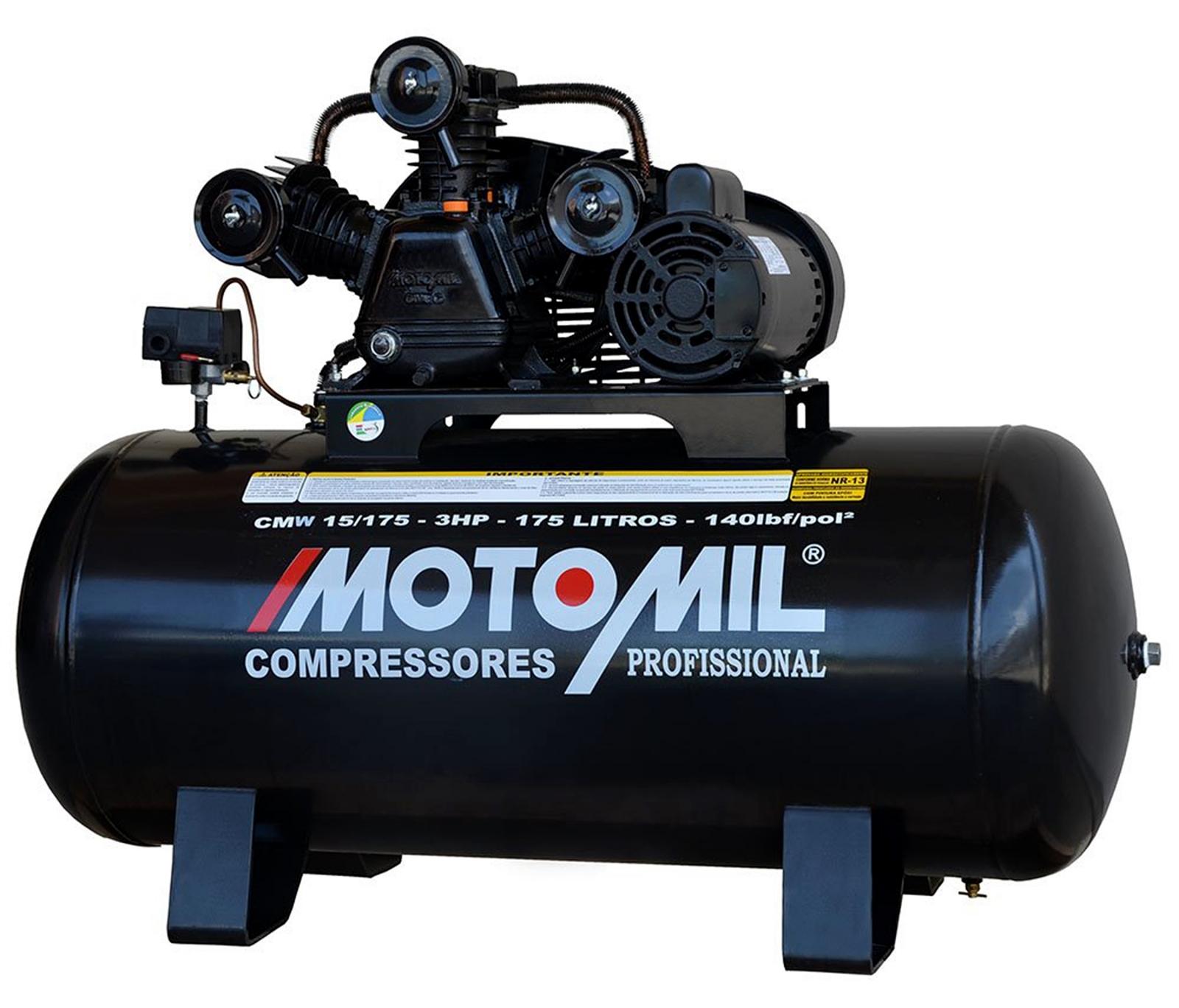 Compressor Profissional 15 Pés Motomil CMW-15/175i - Ferramentas MEP