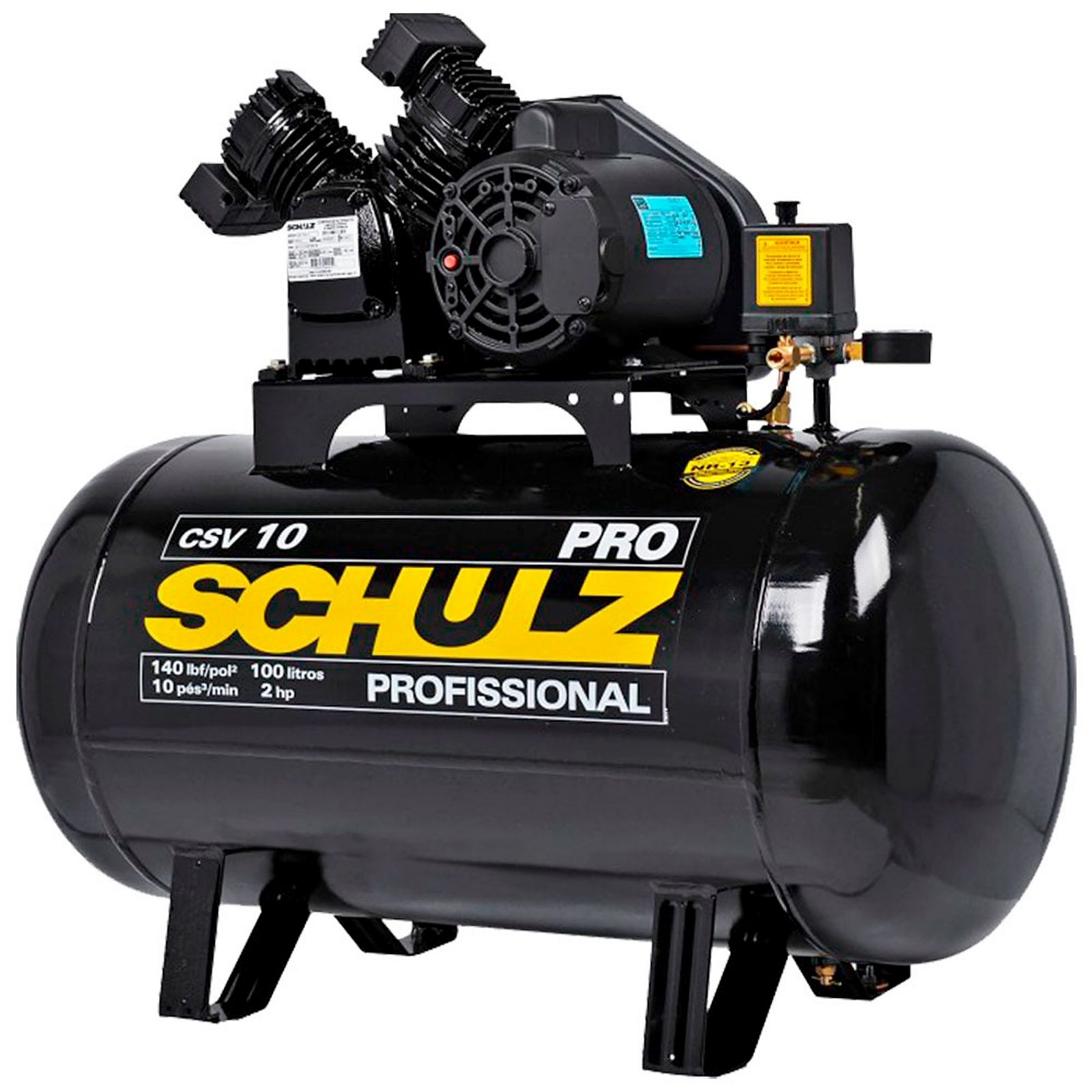 Compressor 10 Pés 2cv CSV-10/100 PRO SCHULZ - Ferramentas MEP