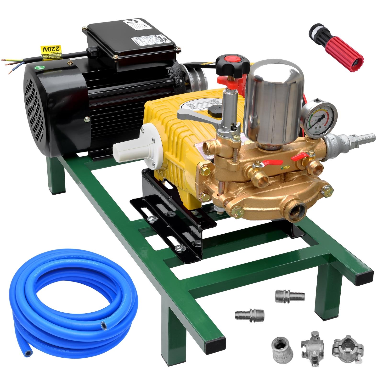 Bomba De Alta Pressão E Pulverização Matsuyama 45 + Motor marca Lynus 2cv 4p Lavacar Completa - Ferramentas MEP