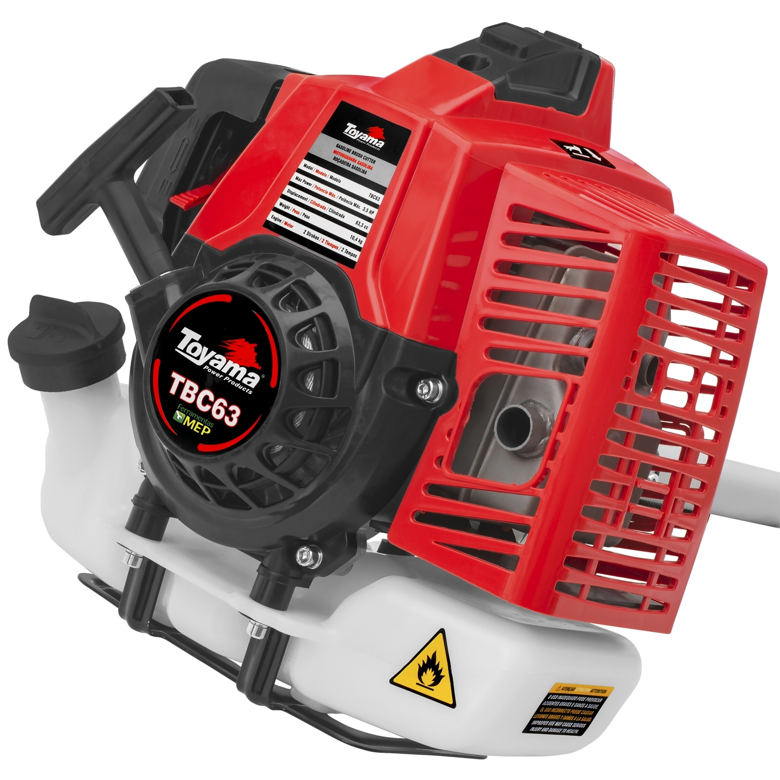Roçadeira Gasolina Profissional Lateral Toyama TBC63 - Ferramentas MEP