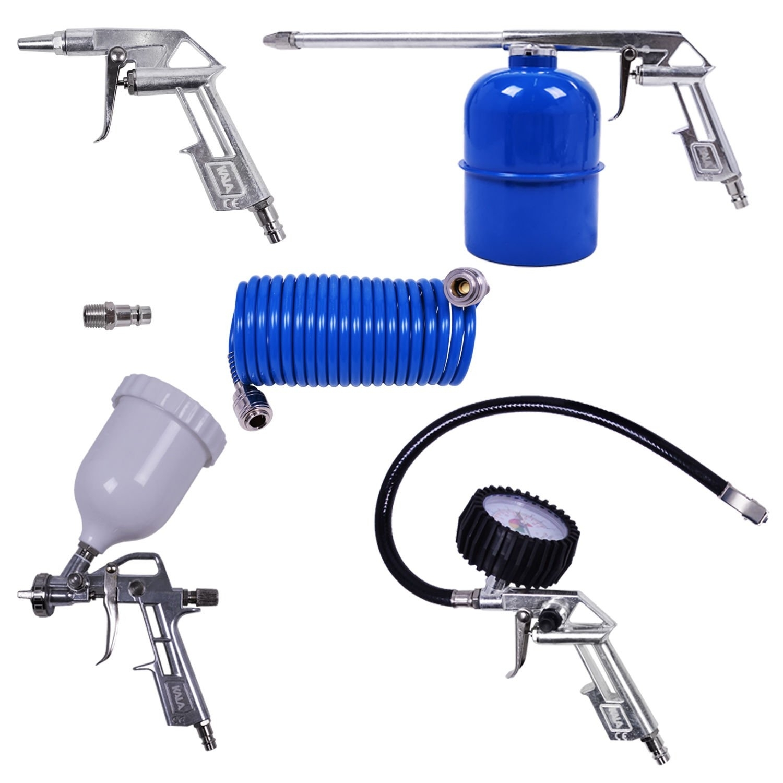 Compressor De Ar 50 Litros 2,5hp Tekna CP8550 + Kit com Pistola De Pintura Ck4 - Ferramentas MEP
