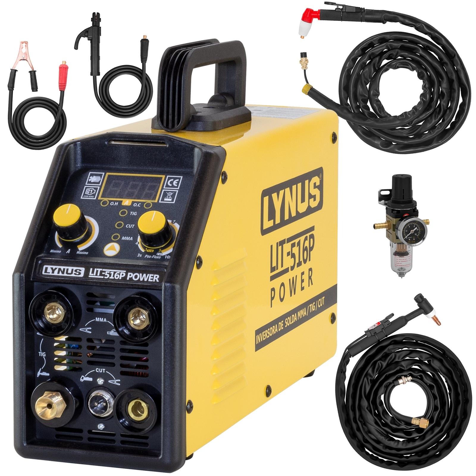 Máquina De Solda Tig Plasma Eletrodo Lynus LIT-516 Power Multiprocesso - Ferramentas MEP