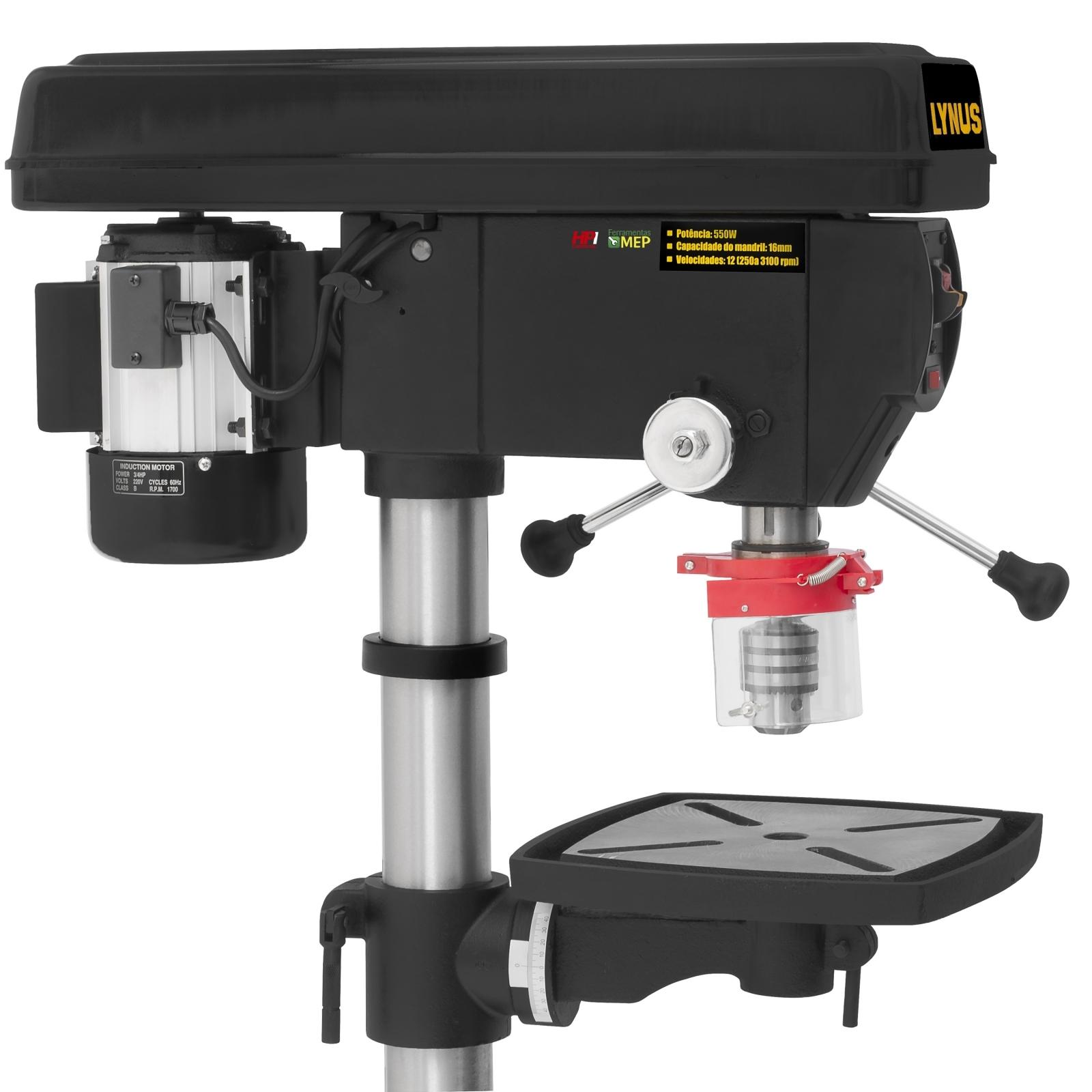 Furadeira Coluna Industrial 3/4cv 550w Mono Bancada 16mm Fc1 - Ferramentas MEP