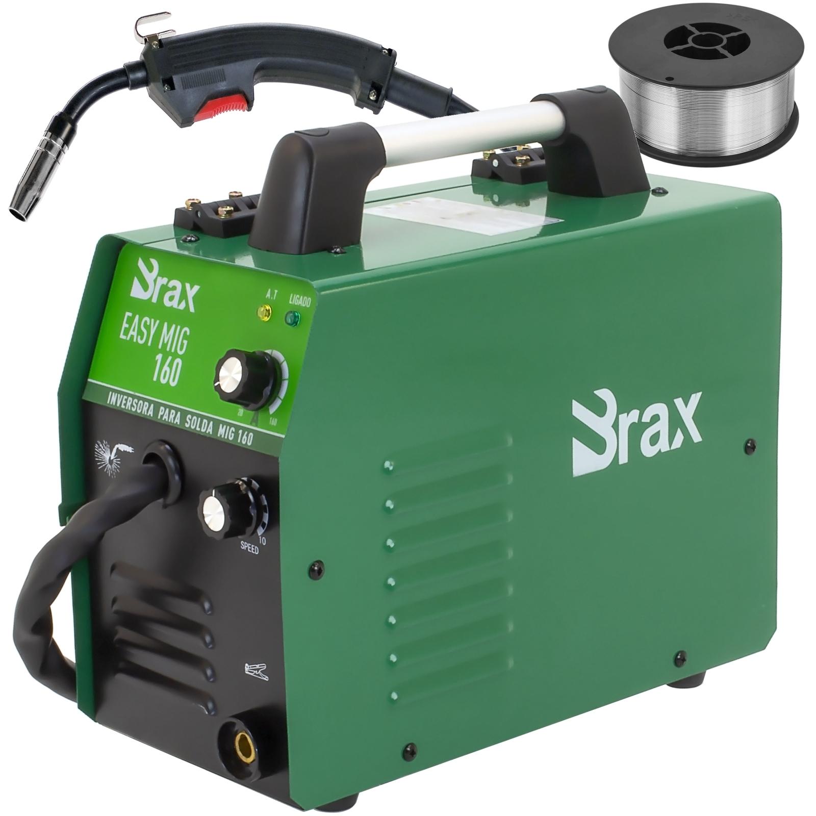 Máquina De Solda Mig Brax 160amp 220 Volts + Arame Sem Gás Mb5 - Ferramentas MEP
