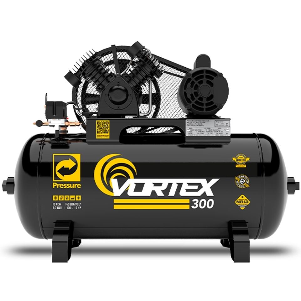Compressor de Ar 10 pcm 100 litros Pressure Vortex Cm1 - Ferramentas MEP