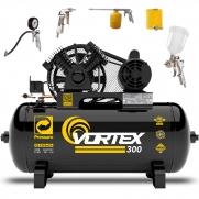 Compressor de Ar 10 pcm 100 litros Pressure Vortex com kit Simples Cp3