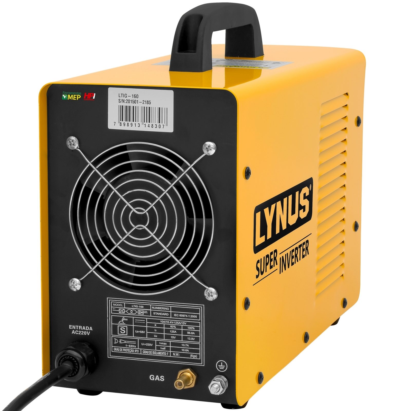 Máquina de Solda Tig Lynus Inversora 160amp Com Acessórios Tl3 - Ferramentas MEP