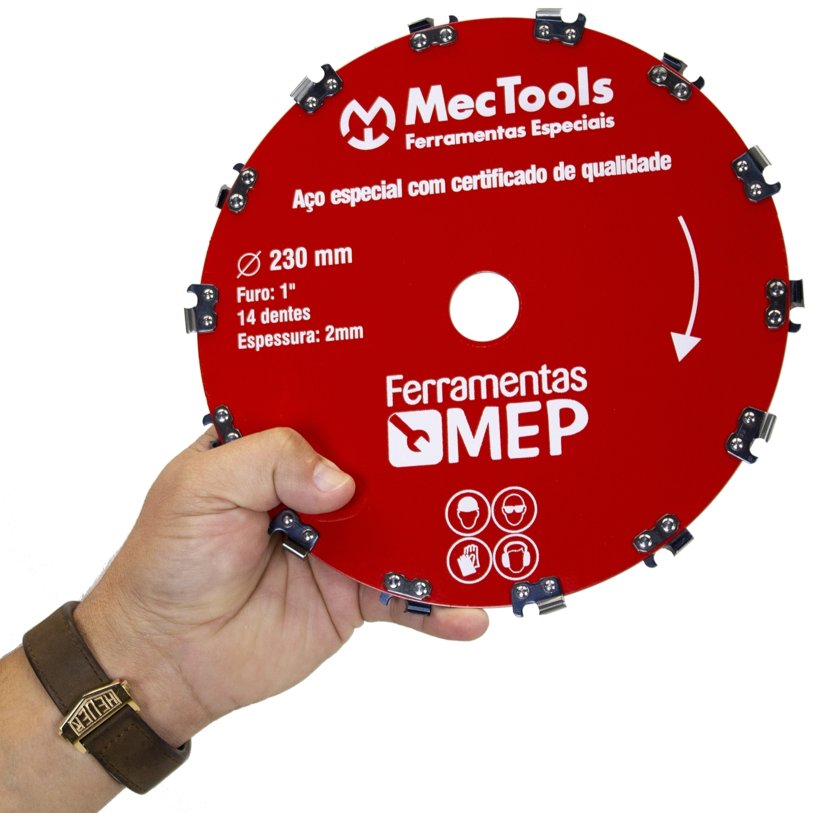 Lamina Para Roçadeira Dentes De Motosserra Todas Marcas Dc2 - Ferramentas MEP
